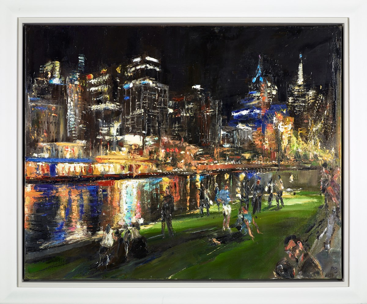 Melbourne - 30 Dec 2013 by david porteous butler -  sized 39x32 inches. Available from Whitewall Galleries